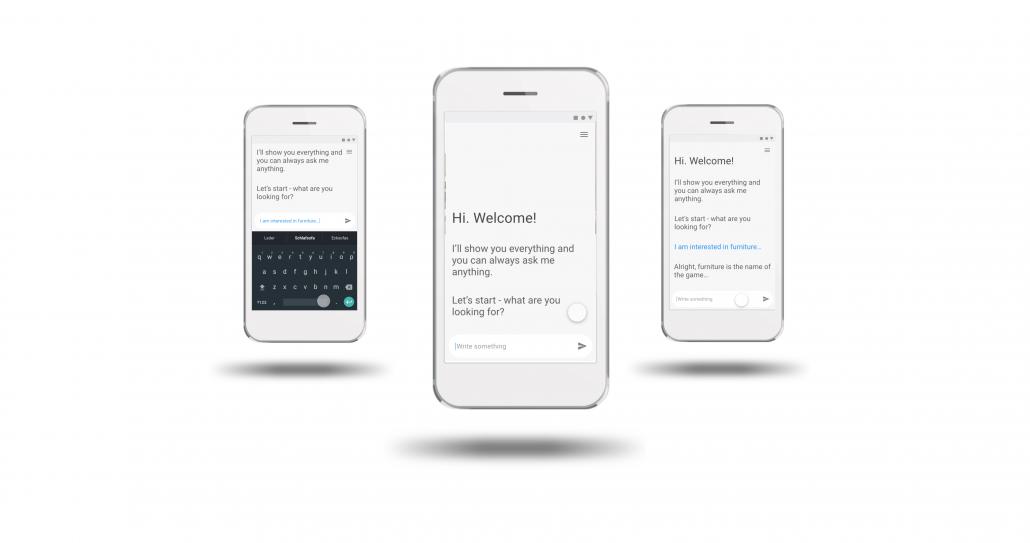 drei Screens Guided Web_Start_EIngabe_Feedback