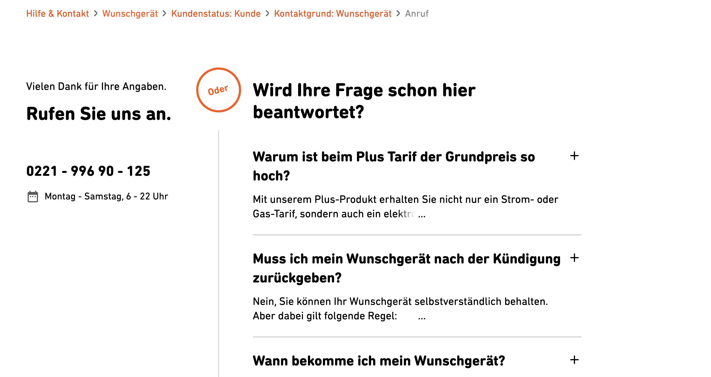 AB Test Original FAQ Bot